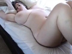 Horny enormous boobs brunette hoe rides cock