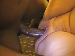 Chubby pussy pounding