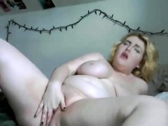 Big Jug MILF BBW Celebrates Valentines Day Solo