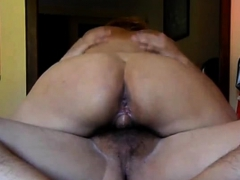 Riding on my lover and cum inwards my cooch