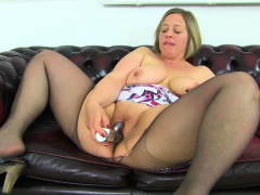 Pure enjoyment awaits you when UK Plumper Jayne Storm undresses