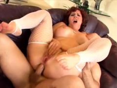 Hardcore Fucking with a Horny Busty Slut in Stockings