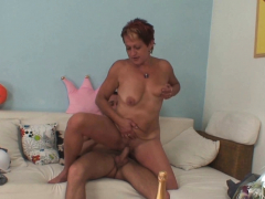 Horny mom in law entices him into taboo trouser snake