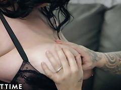 ADULT TIME Plumper Mischievous Kitty Tries On  For Guy