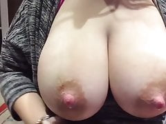 Meaty boobs lactating