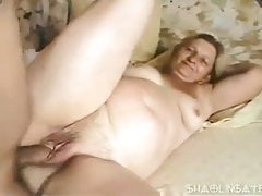 Chubby granny gets assfucked