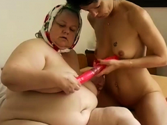Two big red dildost in hairy pussies compilation