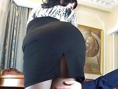 Russian secretary anal