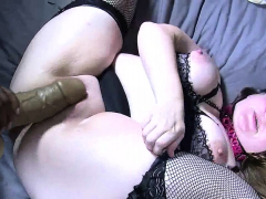 Bbw chick in stocking fucked hardcore in fat pussy