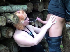 German Mature  Fuck Young Boy Outdoor after College