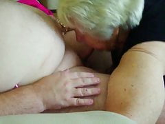 85  old grandmother sucking younger  to orgasm