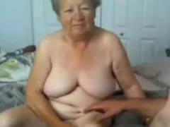 Grandmother and grandpa naked on webcam