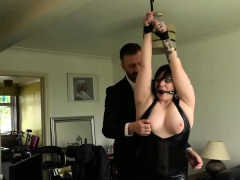 Chubby ballgagged brit