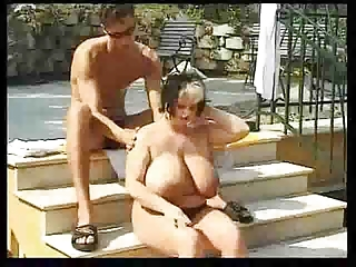 Big BBW Girl Fucks Outdoor