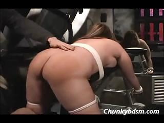 BBW Vulgar Spanking In Stockings
