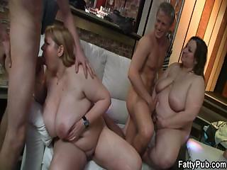 Illustrious titted fatty gets pounded by slim baffle