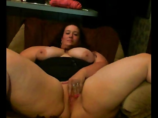 Horny Fat BBW Whilom before Day playing with regard to the brush Pussy on Cam