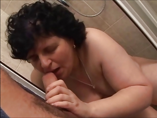 EVELIN - chubby mature 50+ pussy creampie
