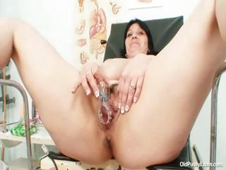 Chunky tits buxom milf Zora hairy pussy check a depart