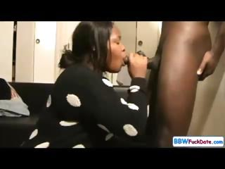 BBW Ebony Deepthroat Pay off