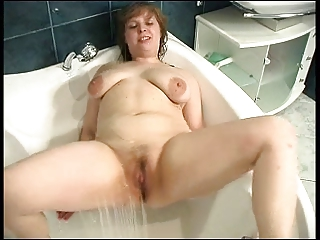 cute chubby beside along to shower
