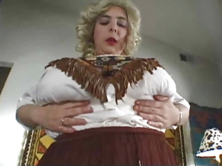 chubby woman with big tits in unaccompanied