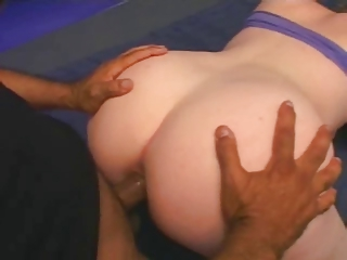 Fat Chubby Redhead needed quick topping fucked in the ass-P2