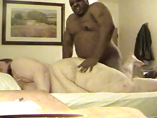 SSBBW does anal with unintentional black panhandler