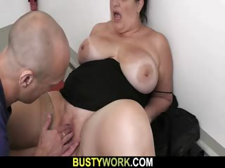 BBW everywhere pantyhoses rides his titanic rod