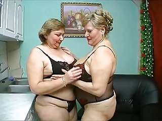 two old big mature have wild sex in disastrous underclothing