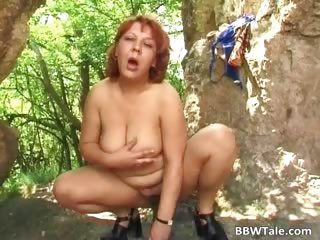 Big subfusc whore plays open-air part5