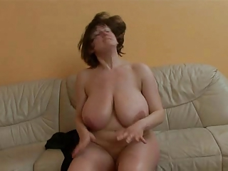 Mature lady with wholly huge boobs getting fucked