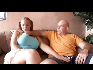Elderly Man Puts The Pipe To Big Boob Pigtail Redhead Sierra
