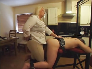 Strapon - Hot BBW Mistress Not conceivably Her Boytoy's Ass