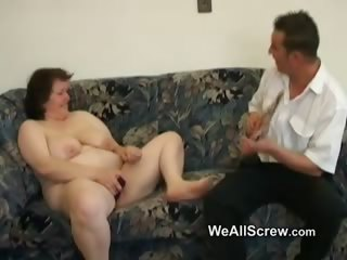Younger guy dildos venerable womans nuisance added to fucks her