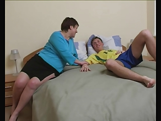 Brunette Russian Shorthair-BBW-Milf fucked by young Guy