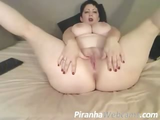 webcam masturbation - super hot plus mature babe