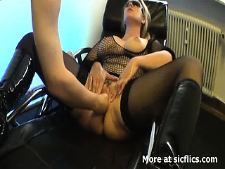 Yellowish milf fist fucked in her insatiable vagina