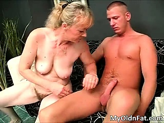 Horrific broad in the beam blonde MILF old bag at hand big tits part3