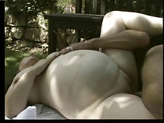 Pregnant German Milf - Outdoors Anal invasion