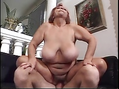 Hairy Red-haired BBW Titted  Mathilda