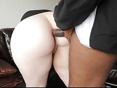 Pretty Plumper gets massive Black dick in Ass and Pussy.