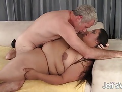 Fatty Latina Lorelai Givemore enjoys a massive dick.