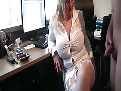 Curvy wife luvs piss on her huge tits