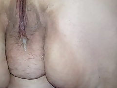 Eating wet  pussy and pulsating creampie