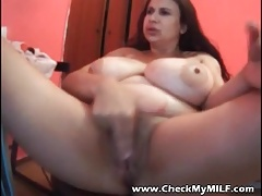 Check My MILF Buxomy BBW mature with toys
