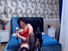 sexy mature dance undress and wank